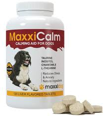 maxxicalm calming aid for dogs with canine behaviour training