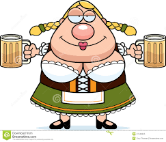 cartoon beer cheers cartoon oktoberfest woman beer stock vector image 47448645