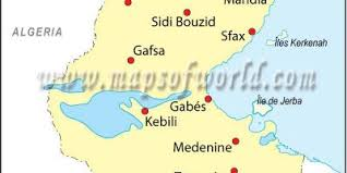 map of tunisia with cities tunisia map maps tunisia northern africa africa