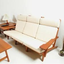 Hans Wegner Sofa by Ge 375 3 Sofa By Hans Wegner For Getama 1960s 15068