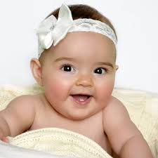 baby girl headband baby ivory lace headband with sparkly heart satin bow