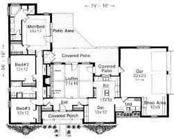 traditional style house plan 3 beds 2 00 baths 1876 sq ft plan