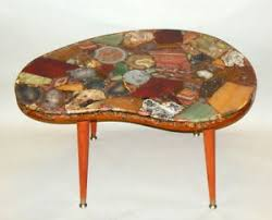 ebay mid century modern coffee table biomorphic rock quartz geode cocktail coffee table mid century