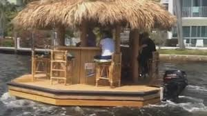 How To Make Tiki Hut Amazing Tiki Boat Seen Sailing Along S Fla Waterways
