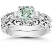 green amethyst engagement ring green amethyst wedding ring set green amethyst engagement ring and