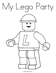 My Lego Party Coloring Page Twisty Noodle Lego Coloring Pages