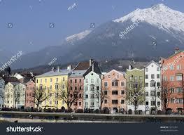 austria colorful houses along inn river stock photo 72716761
