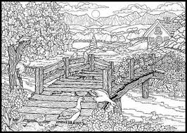 coloring pages adults difficult landscape coloring