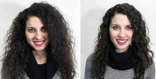 what a brazilian blowout looks like on curly hair and coily and