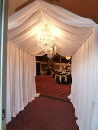 Indoor Chandeliers by Elegant Fabric Tunnel Entrance With Accented With Beautiful