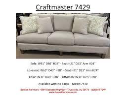 Craftmaster Sofa Fabrics Craftmaster 7429 U0026 7430 Sofa You Choose Spit Tacks Or No Tacks