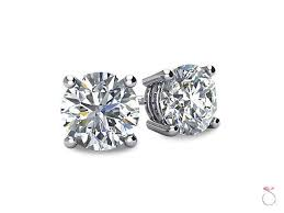 diamond stud earrings sale diamond solitaire stud earrings 1 2ct in 14k white gold sale sbej