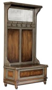 Seated Storage Bench Hall Tree With Storage Bench And Mirror Foter