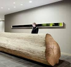 Office Furniture Reception Desk Counter by Unique Tree Trunk Reception Desk Office Lobby U0026 Reception