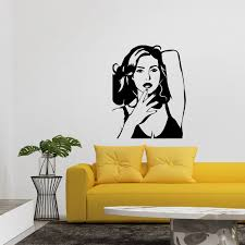 ambiance sticker celebrity wall decals touch of modern monica bellucci