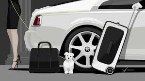 wraith roll royce an elegant wraith luggage collection demonstrates the art of true