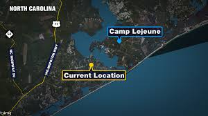 Camp Lejeune Map Marines Near End Of Memorial March To Camp Lejeune Wkrg