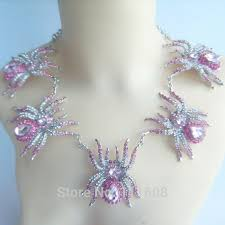 pink rhinestone necklace images Rhinestone necklace earring set halloween 5 spider necklace jpg