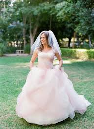 blush vera wang wedding dress elizabeth anne designs the