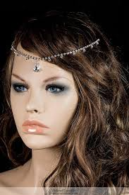 chain headband bridal forehead chain headband swarovski dangle