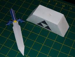 Master Sword Papercraft - master sword 2 oot papercraft by sinkigobopo on deviantart