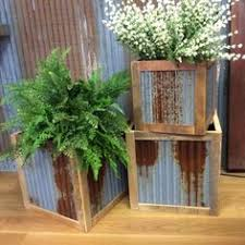 Corrugated Metal Planters by Galvanized Self Watering Planters Tall Corrugated Metal Planters