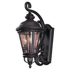 Murray Feiss Wall Sconce Feiss Castle 3 Light Black Outdoor Wall Lantern Ol1901bk The