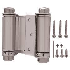 everbilt 3 in x 3 in satin nickel double action spring door