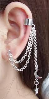 earring with chain to cartilage chain cartilage earring by momadejewelry on etsy 15 00 kinda