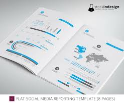 social media brochure template freebie indesign social media reporting template 8 pages