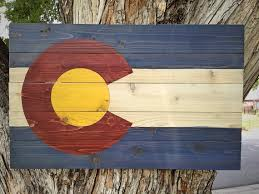 wooden flag wall colorado flag wall hanging small classic distressed finish