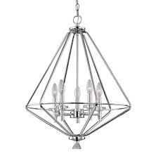 bamboo 6 light chandelier by ballard designs havenly home decorators collection 5 light polished chrome pendant with crystal accents