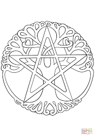 wiccan tree of coloring page free printable coloring pages