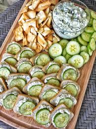light appetizers for parties cream cheese cucumber sandwiches the tipsy housewife