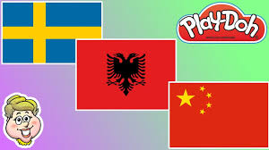 Flag Sweden Play Doh Flags Sweden Albania And China Ewmj 242 Youtube