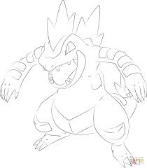 feraligatr pokemon coloring page free printable coloring pages
