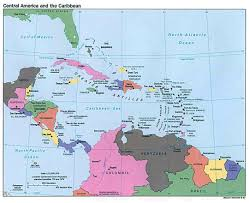 North And South America Map by Maps Of Central America And The Caribbean Central America And The