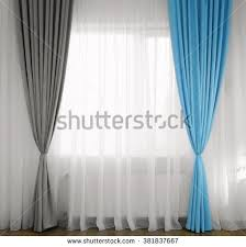Turquoise And Grey Curtains Curtains Window Stock Images Royalty Free Images U0026 Vectors