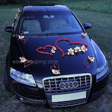 deco mariage voiture déco de voiture orchidées jaunes et le cœur