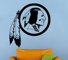 washington redskins wall decal nfl vinyl sticker football logo