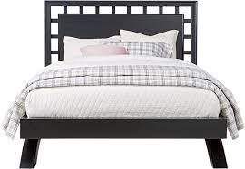 Black Platform Bed Belcourt Black 3 Pc King Platform Bed With Lattice Headboard