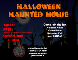 Haunted House San Diego Thursday October 30 2014 5 P M To 8