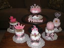Centerpieces For Baby Showers by Princess Diaper Cake Baby Shower Centerpieces Other