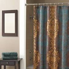 Brown And White Shower Curtains Gold Fabric Shower Curtain Foter