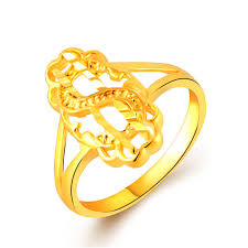 s rings fancy design letter s shaped yellow gold color rings jewelry custom