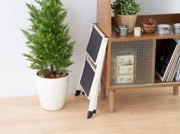 slim step stool wooden step stool with handle slim folding step