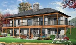 walkout basement design awesome lakefront house plans with walkout basement 18 pictures
