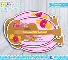 luau invitations ukulele luau invitations girl hawaiian invitation invites birthday
