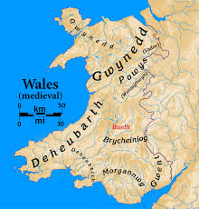 Map Of Wales Map Of Medieval Wales Showing Gwynedd And Powys King U0027s Knight By