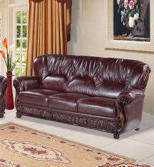 Brown Bonded Leather Sofa Meridian Furniture Mina 639burg Traditional Burgundy Genuine